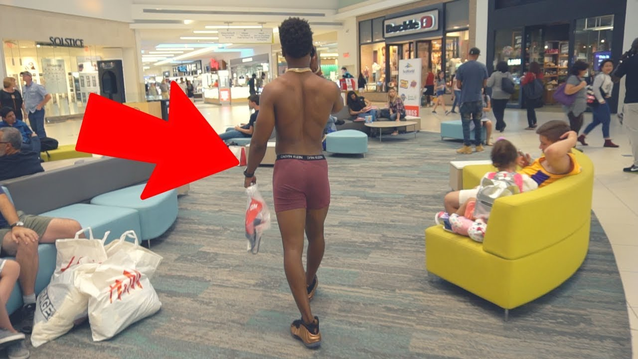 I WENT SHOPPING IN MY BOXERS.. - YouTube