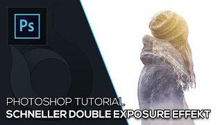 Schneller Double Exposure Effekt | Photoshop Tutorial | German | Wildfire Graphics