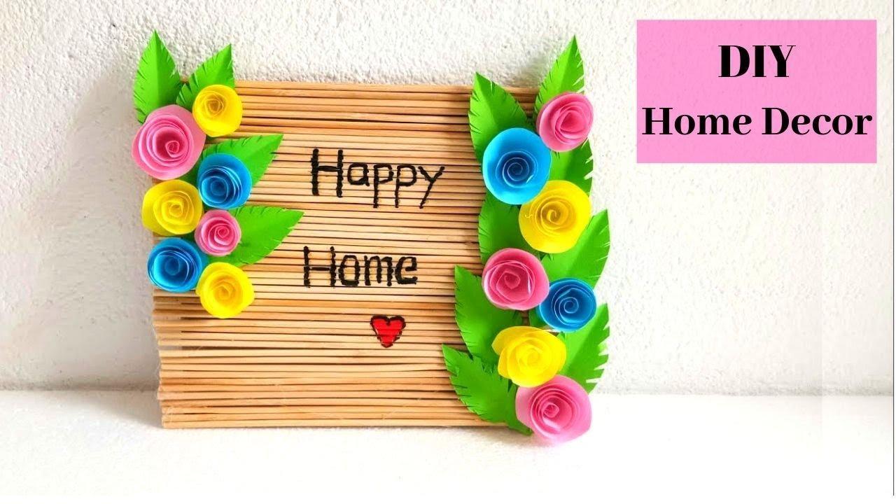 Diy Happy Home Sign Board Diy Home Decor Diy Wall Hanging Easy