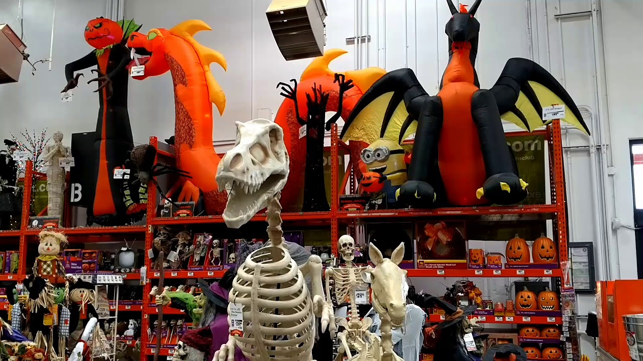 Home Depot Flexible Props : Home depot halloween decorations youtube