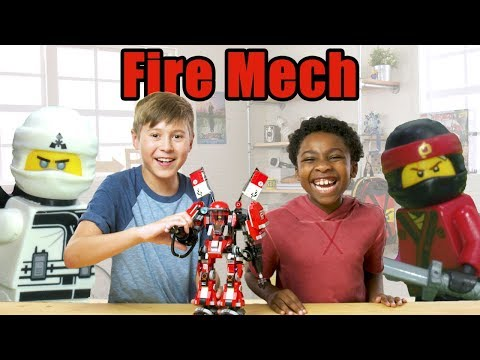 The LEGO NINJAGO MOVIE EPIC Fire Mech Review- The Build Zone Season 5 Episode 10