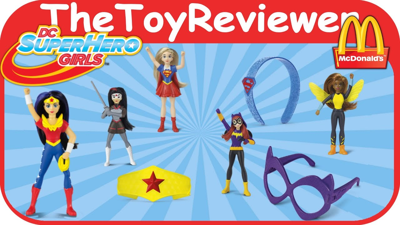 2016 Dc Super Hero Girls Mcdonalds Happy Meal Toys