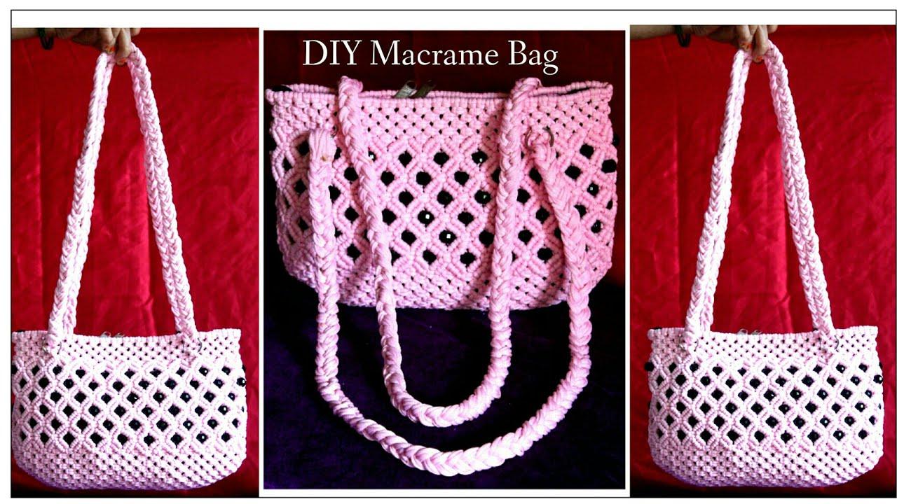 Diy Tutorial Of Easy Handmade Macrame Bag Design 4 Ladies