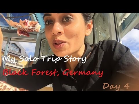 Travel Vlog | My Solo Trip Story | Black Forest,Germany | Day 4 | Lake Schluchsee Black Forest Cake