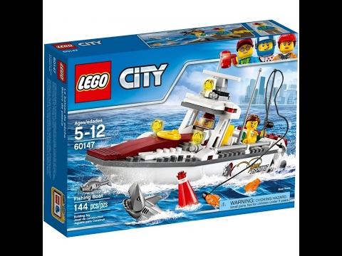 Klocki Lego City 60147 łódź Rybacka Instrukcja Składania Youtube