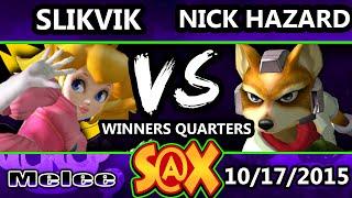 Fall Arcadian - Slikvik (Peach) Vs. Nick Hazard (Falco, Fox) SSBM Winners Quarters - Smash Melee