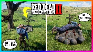 What Happens If You Bring The Larned Sod Farmer To The Warped Tree Grave In Red Dead Redemption 2?