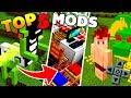 TOP 5 MELHORES MODS PARA MINECRAFT PE ! - (Minecraft Pocket Edition)