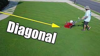 Diagonal Cutting Lawns
