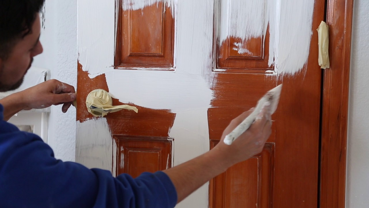 How To Paint A Stained Door Peak Pro Painting Denver
