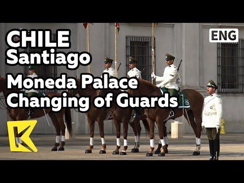 【K】Chile Travel-Santiago[칠레 여행-산티아고]모네다 궁전 근위병 교대식/Moneda/Palace/Changing/Guards