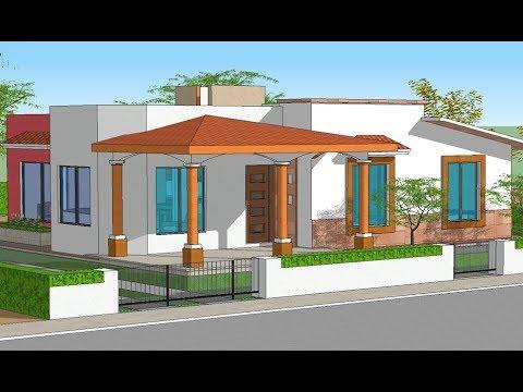 Plano casa un piso y 3 rec maras proyecto de casa youtube - Planos d casas d un piso ...