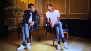 Stromae interviewed (by himself) after his first Milan show on the 1st of July 2014