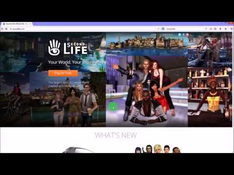 Second Life tutorial #1 - Getting Started