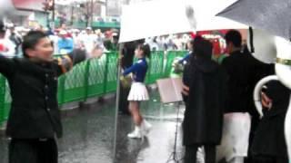 東京六大学による応援 東京マラソン2010
