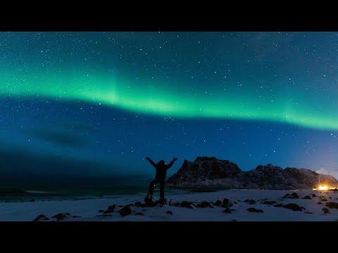 NORTHERN LIGHTS IN LOFOTEN ISLANDS NORWAY!!!