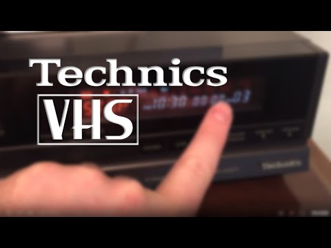"""Insane Technics VHS VCR with """"Fingers of Fury"""" Tape!!"""