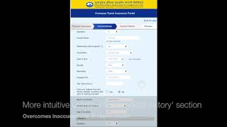 United India Insurance Company - Travel Insurance portal redesign