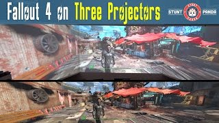 Fallout 4 on Triple Projectors - 3K Resolution!