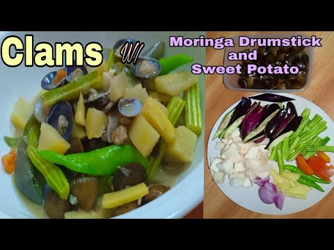 Clams with Moringa Drumstick and Sweet Potato | Quick and Easy Recipe