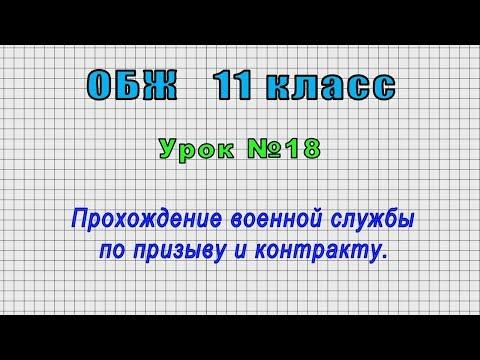 ОБЖ 11 класс (Урок№18 - Прохождение военной службы по призыву и контракту.)