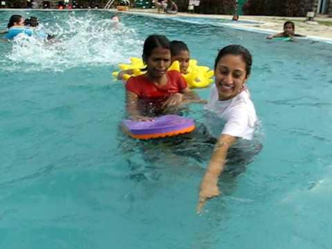 Enjoying The Swimming Pool Street Kids In Pune India Ashraya Initiative For Children Aic