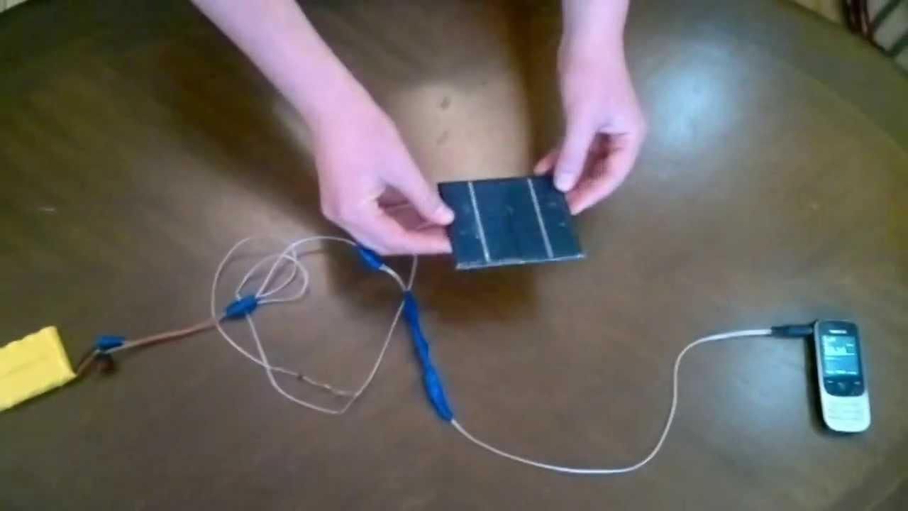 Как сделать зарядку на солнечных батареях своими руками