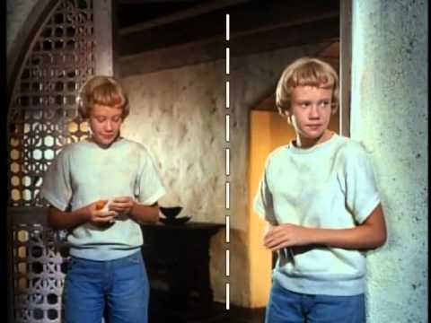 THE PARENT TRAP split screen effects for twins Hayley Mills.