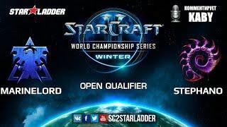 2019 WCS Winter Open Qualifier 2 Match 8: MarineLorD (T) vs Stephano (Z)