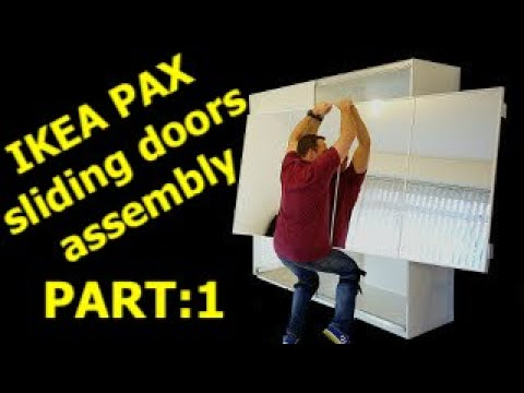 Ikea Pax Wardrobe Sliding Doors Assembly Part 1