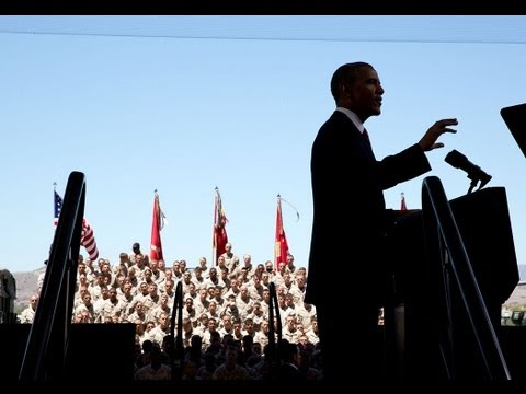 President Obama Speaks to Troops at Camp Pendleton