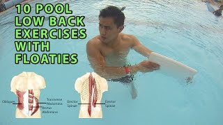 10 Pool Low Back Exercises With Floats