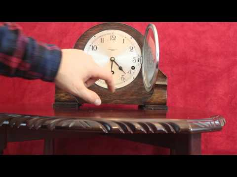 Antique JAMES WALKER & HALL GARRARD Mantel Clock with Westminster Chime 1931