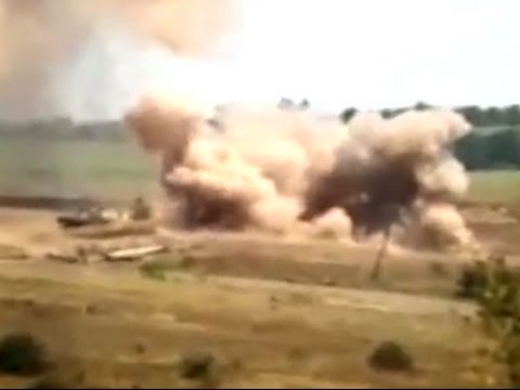 2014/07/25 Ukrainian troops being attacked from russian territory