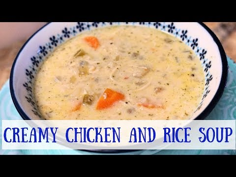 Creamy Chicken And Rice Soup-Crockpot Recipe