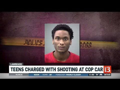 Teens charged with shooting at cop