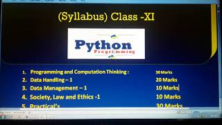 "Informatics Practices(""New Syllabus 2019"") in Class : XI | Study Tech Edu"