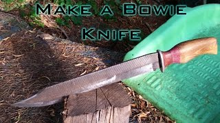 How to Make a Bowie Knife From a Farriers Rasp