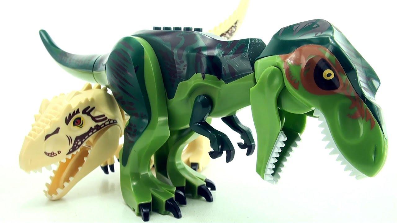 Green Tyrannosaurus Rex Lego Compatible Jurassic World Dinosaurs