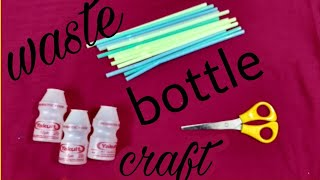 best out of waste material|reuse waste yakult bottle |wall hanging decor|new wall design art craft