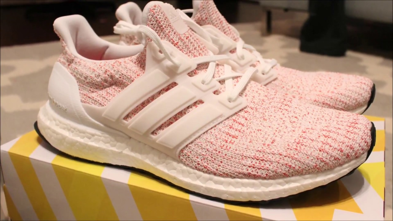 eb95480d4f117 Adidas Ultraboost 4.0 Candy Cane Review and Unboxing - YouTube