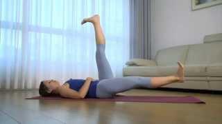 Йога для мышц живота(Утренняя йога на 9 канале. Ведущая Юля Глускина Видео предоставлено 9 каналом., 2015-09-03T19:13:04.000Z)