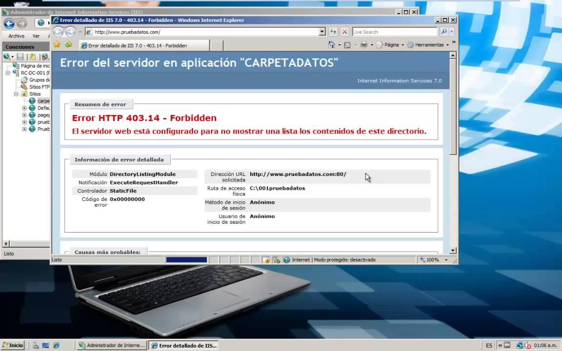 CARPETA DE DATOS EN EL SERVIDOR IIS - YouTube