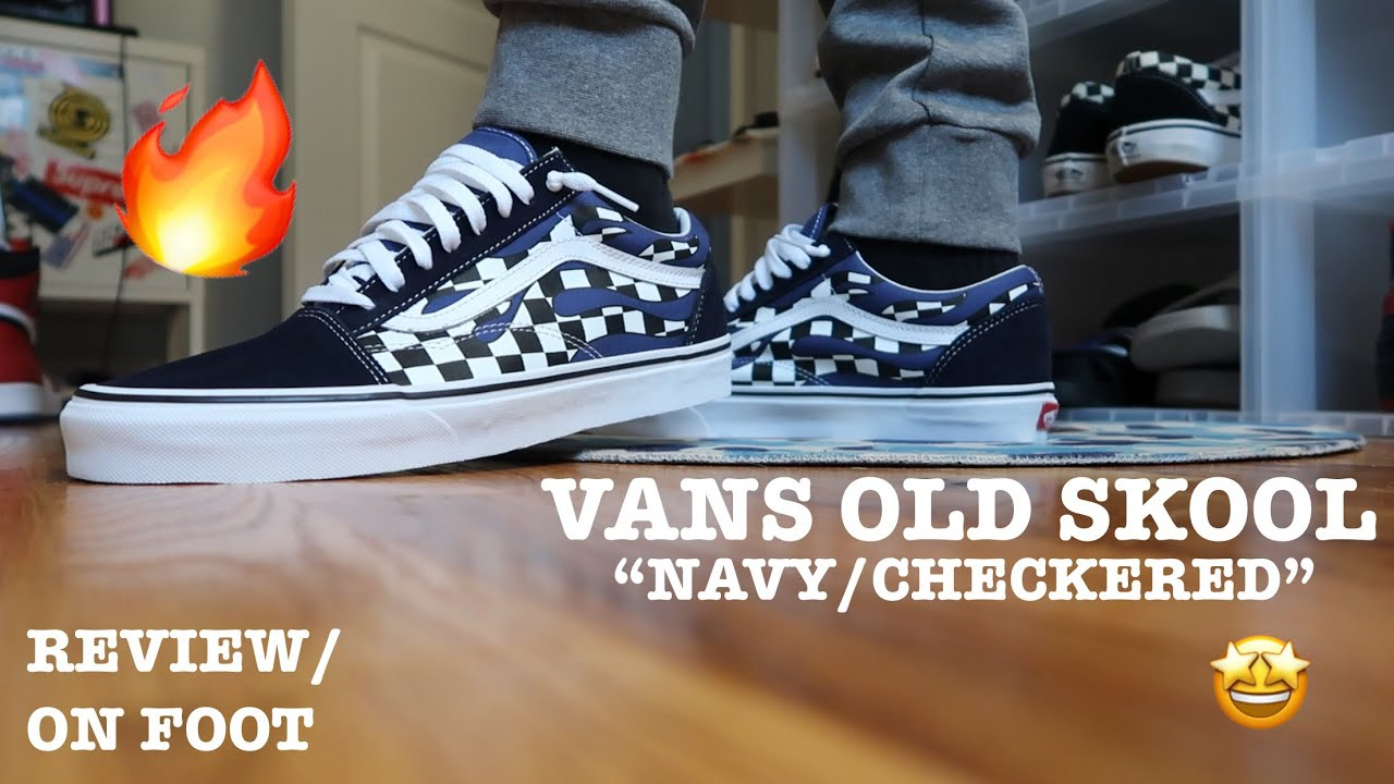 VANS OLD SKOOL NAVYCHECKERED REVIEW&ON FOOT‼️</p>                     </div>   <!--bof Product URL --> <!--eof Product URL --> <!--bof Quantity Discounts table --> <!--eof Quantity Discounts table --> </div>                        </dd> <dt class=