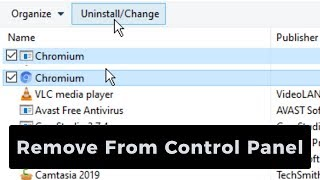 How to DELETE Chromium From Control Panel