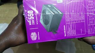 Cooler master MWE 550 Unboxing budget gaming PSU