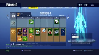 (fortnite) I GOT THE SEASON 4 BATTLE PASS !!