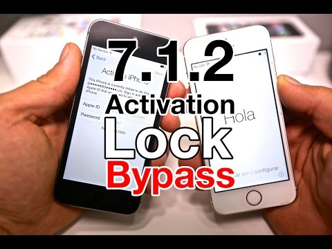 NEW 7.1.2 Activation Lock Bypass: New Activation Lock Bypass Discovered In 7.1.2, 7.1.1 & 7.1. Bypass & enter iPhone without iCloud credentials. Works on iPhone 5S, 5C, 5, 4S & 4.  More Info HERE: http://phonerebel.com/new-activation-lock-bypass-found-in-7-1-2/