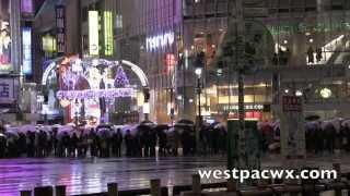 Tokyo Rain & Snow December 18th 2013 東京 あめ 雪
