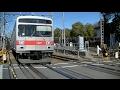東急多摩川線1000系1021F蒲田行き 多摩川駅付近の踏切を逆走通過